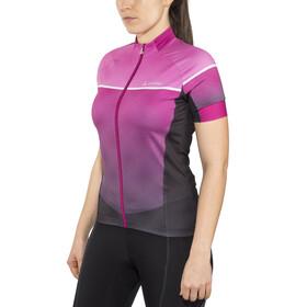 Löffler Hotbond Reflective Bike Trikot Full-Zip Damen schwarz/berry